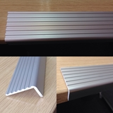Aluminium Fluted Angle Etched & Anodised Silver