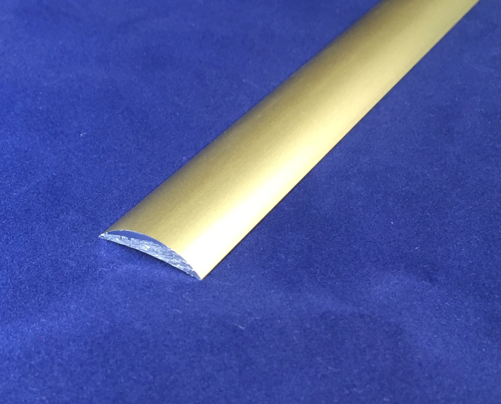 Gold Anodised Aluminium Half Round Moulding Bar 6063T6